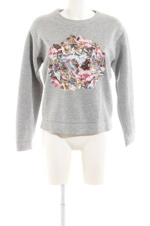 & other stories Sweatshirt hellgrau abstraktes Muster Casual-Look
