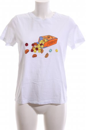 & other stories T-Shirt weiß Motivdruck Casual-Look