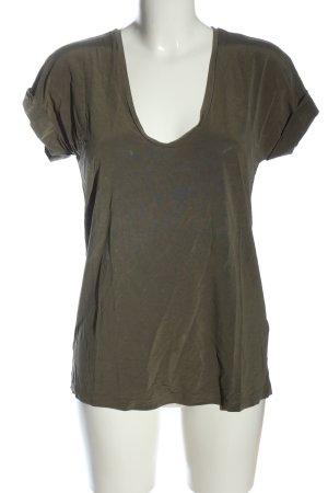 & other stories T-Shirt khaki schlichter Stil