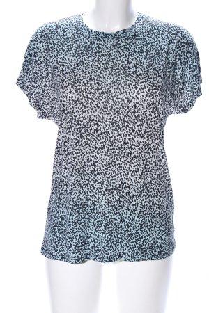 & other stories T-Shirt schwarz-türkis Allover-Druck Casual-Look