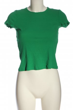 & other stories T-shirt verde punto treccia stile casual