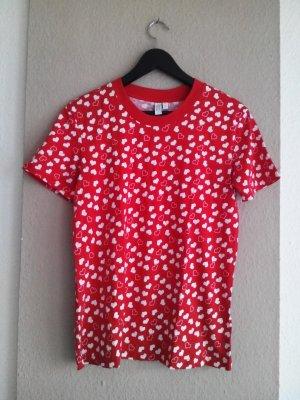 & other stories T-Shirt mit Herzchenmuster, aus 100% Baumwolle, Größe 38 neu