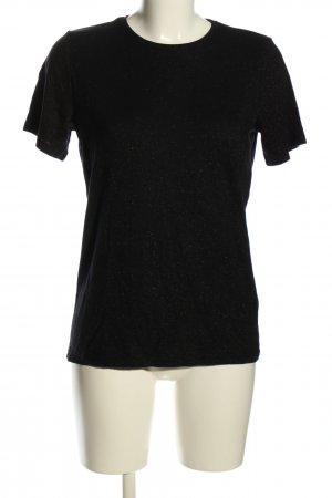 & other stories T-Shirt schwarz Glitzer-Optik