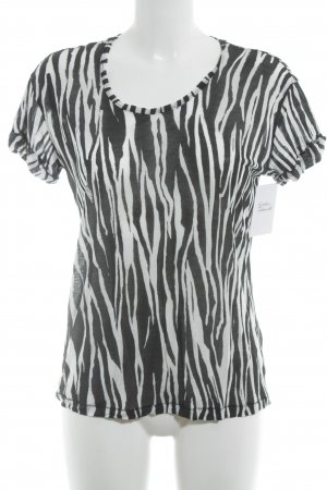& other stories T-Shirt weiß-schwarz Animalmuster Casual-Look