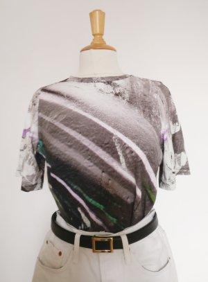 & other stories T-Shirt XS Grau Meliert kurz 90s Look