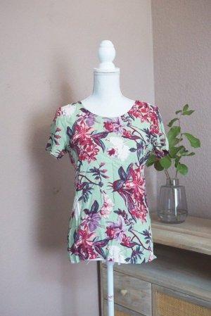&other stories Top Shirt grün Blumen 36 neu!