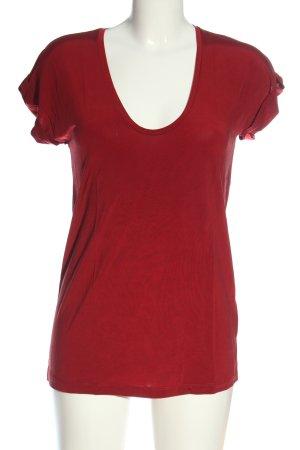 & other stories Koszulka z dekoltem w łódkę czerwony W stylu casual