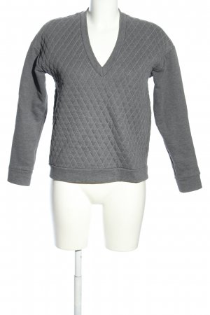 & other stories V-Ausschnitt-Pullover hellgrau meliert Casual-Look