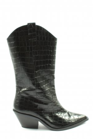 & other stories Western Boots black animal pattern casual look