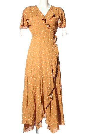 & other stories Kopertowa sukienka jasny pomarańczowy-biały W stylu casual