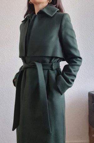 AndOtherStories Wool Coat dark green-forest green alpaca wool
