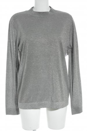 & other stories Wollpullover grau-silberfarben Business-Look