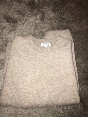 &Other Stories Wollpullover Taupe Alpaka