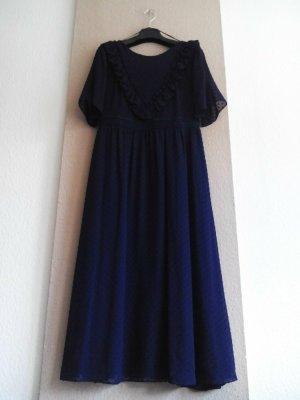 & Other Stories wunderschönes Plumetis Kleid in Marineblau, Paris Atelier, Größe 38, neu