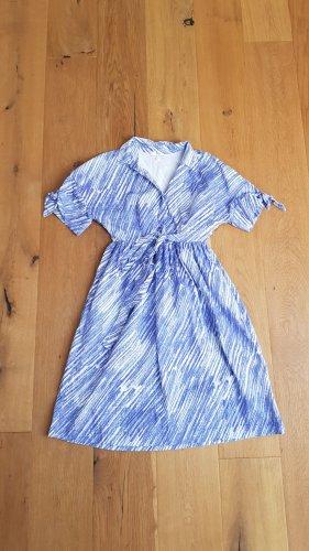 &other stories x vika gazinskaya Kleid blau weiß 36 S