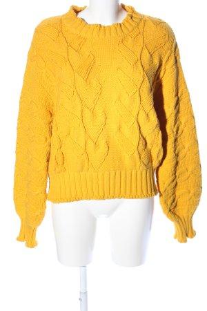 & other stories Jersey trenzado amarillo pálido look casual