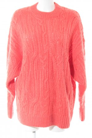 & other stories Zopfpullover orange Zopfmuster Casual-Look
