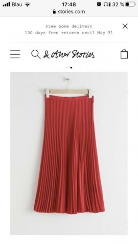 & other stories Pleated Skirt red