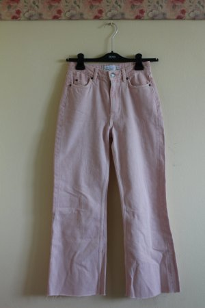 Otherstories Cropped Flare Jeans in Pink