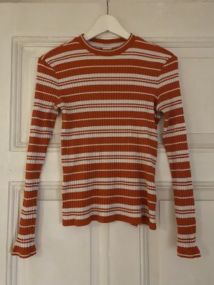 & otherstories Longsleeve Tshirt Grösse S gestreift weiss orange
