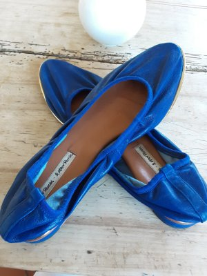 & otherStorys Slingback Ballerinas gold-colored-blue