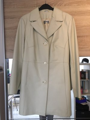 Otto Leather Coat cream