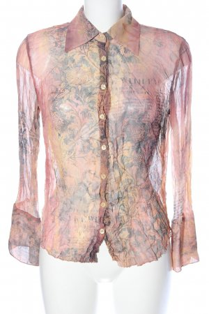 Otto Kern Kreukelblouse roze abstract patroon casual uitstraling