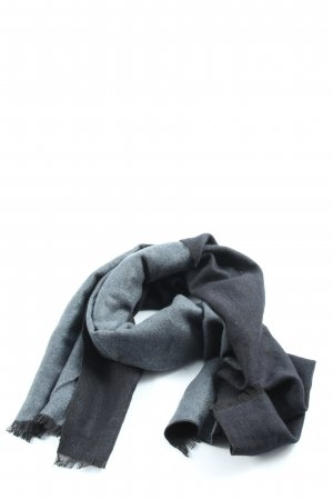 Otto Kern Fringed Scarf black-blue casual look
