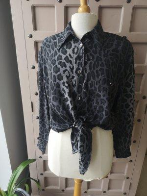 Otto Kern Lange blouse zwart-grijs