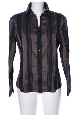 Otto Kern Hemd-Bluse braun-schwarz Streifenmuster Casual-Look
