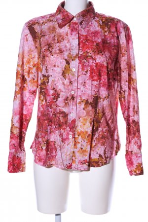 Otto Kern Hemd-Bluse pink-rot abstraktes Muster Casual-Look