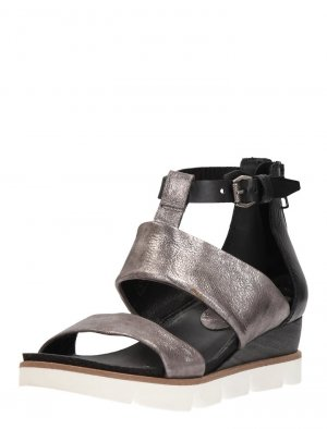 Otto Kern Strapped High-Heeled Sandals silver-colored