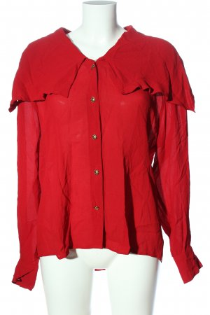 Otto Kern Long Sleeve Blouse red casual look