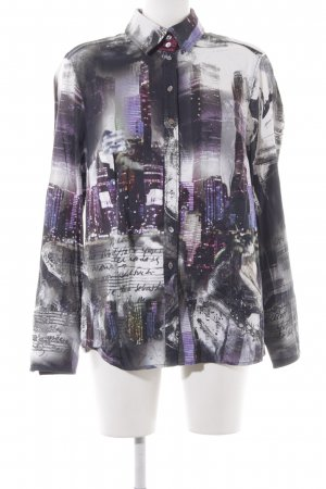 Otto Kern Long Sleeve Blouse abstract pattern casual look