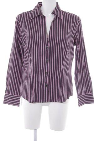 Otto Kern Langarm-Bluse pink-schwarz Streifenmuster Elegant