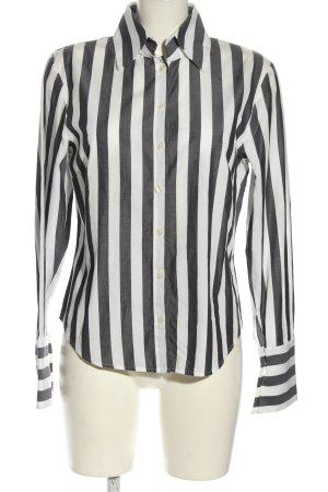 Otto Kern Langarmhemd schwarz-weiß Streifenmuster klassischer Stil