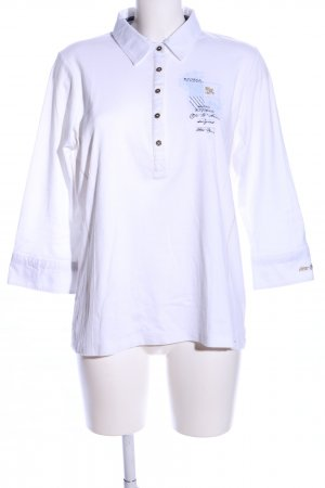 Otto Kern Long Sleeve Shirt white printed lettering casual look