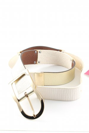 Otto Kern Leather Belt natural white-gold-colored casual look