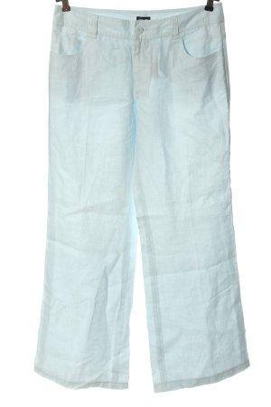 Otto Kern Pantalón de lino azul look casual