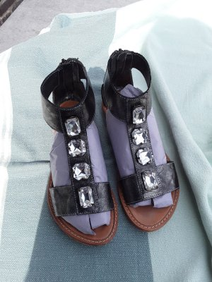 Otto Kern Roman Sandals anthracite-grey leather