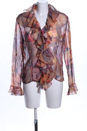 Otto Kern Transparenz-Bluse abstraktes Muster extravaganter Stil