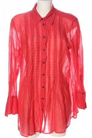Otto Kern Transparent Blouse red casual look