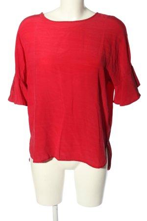 ottod'Ame Blouse en soie rouge style décontracté