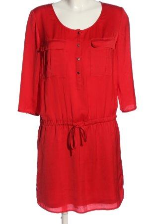 Oui Robe trapèze rouge style décontracté