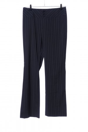 Oui Suit Trouser black-light grey striped pattern business style