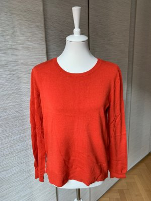 OUI Black Label hellroter glatter Pulli, gedämpftes Orange