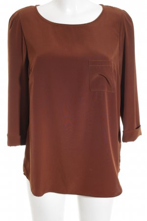 oui BLACK LABEL Langarm-Bluse cognac Business-Look