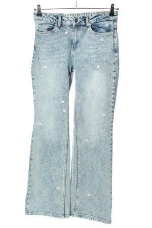 Oui Boot Cut Jeans Blumenmuster Casual-Look