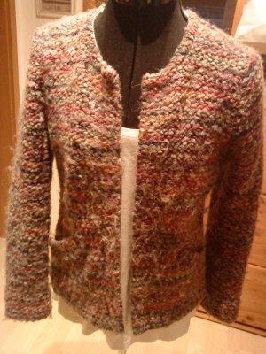 Oui Blazer in lana multicolore Tessuto misto