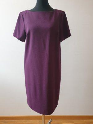 Oui Robe trapèze rouge mûre-violet